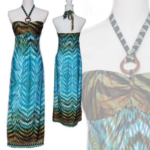 HeartSoul Dresses & Skirts - HeartSoul 🌴 Tropic Halter Maxi Dress